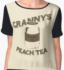 Granny's Peach Tea Brown Chiffon Top