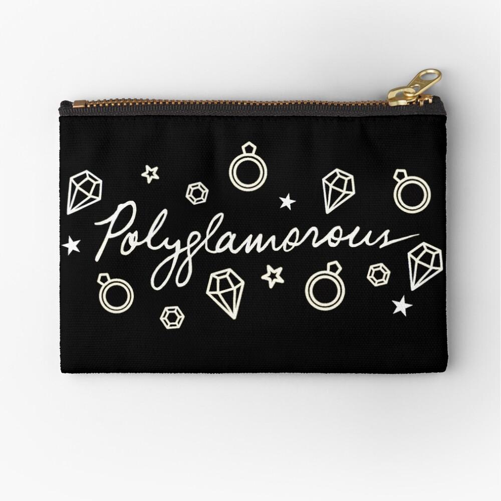 Polyglamorous Black Zipper Pouch
