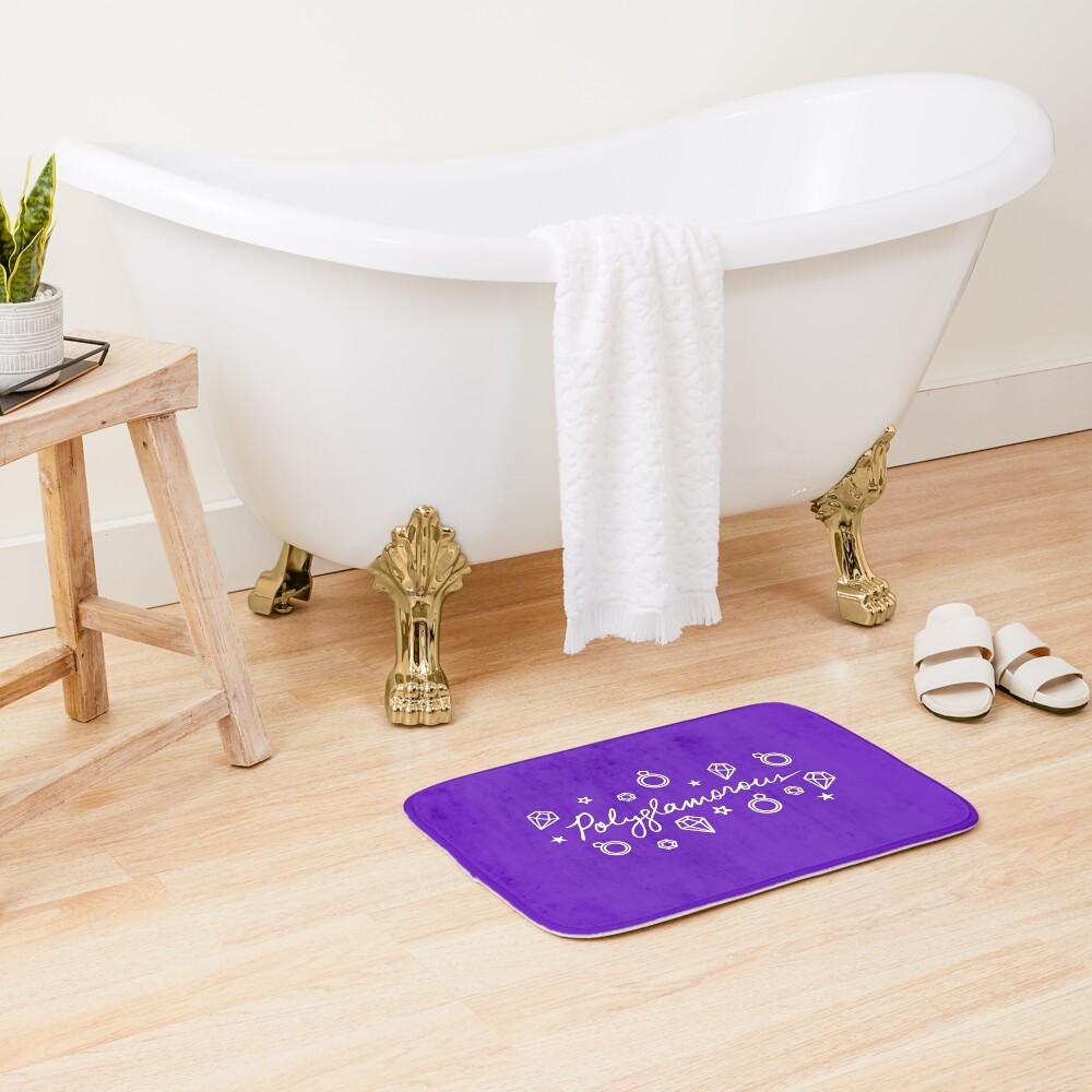 Polyglamorous Purple Bath Mat