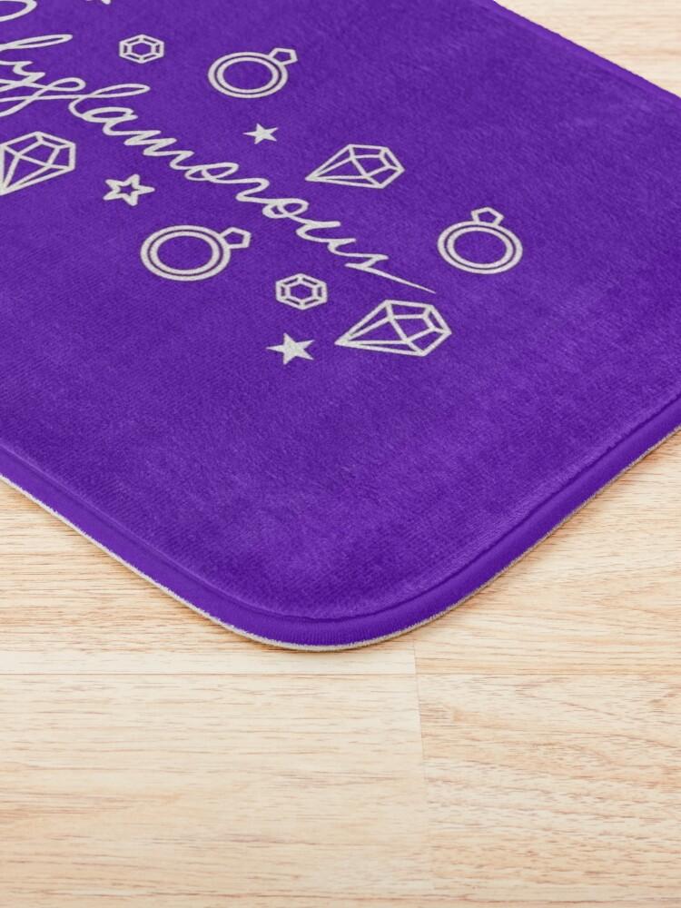 Alternate view of Polyglamorous Purple Bath Mat