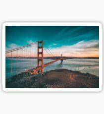 Golden Bridge Sticker