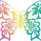 BUTTERFLY BUTTERFLIES RAINBOW PEACE HIPPIE STICKER by MyHandmadeSigns