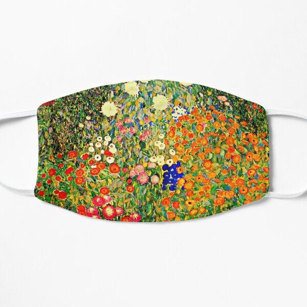 Flower Garden, famous painting by Gustav Klimt Flat Mask