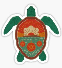 Honolulu Turtle Sticker
