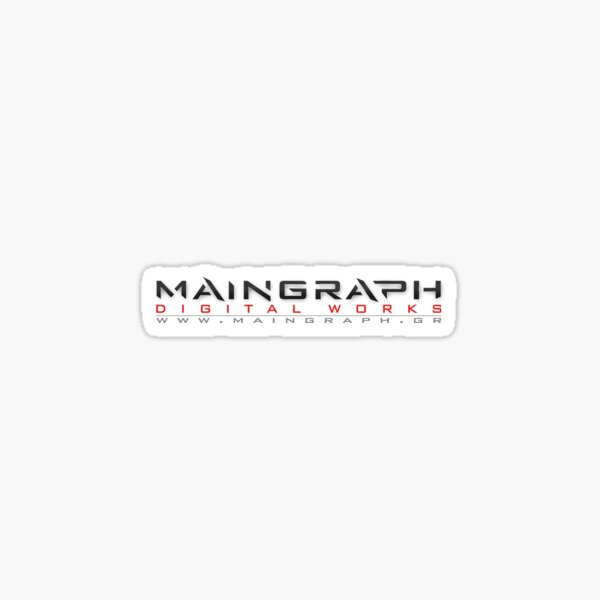 Maingraph digital works logotype Sticker