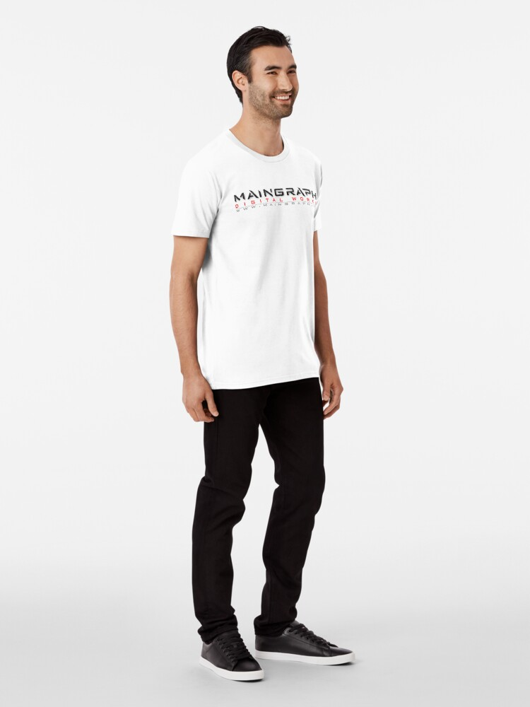 Alternate view of Maingraph digital works logotype Premium T-Shirt