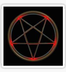 Red Tip Pentagram Sticker