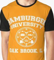 Hamburger University in White Graphic T-Shirt