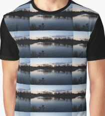 Cool Blue Ripples - Lake Shore Eventide Graphic T-Shirt