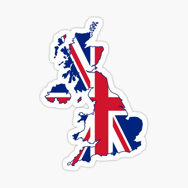 Flag Map of the United Kingdom  Sticker