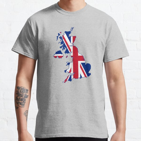 Flag Map of the United Kingdom  Classic T-Shirt