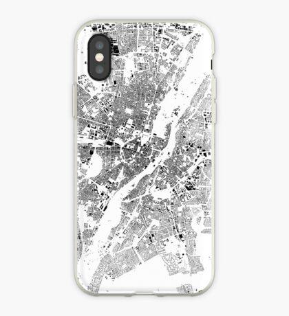 Munich Map Schwarzplan Only Buildings Urban Plan iPhone Case
