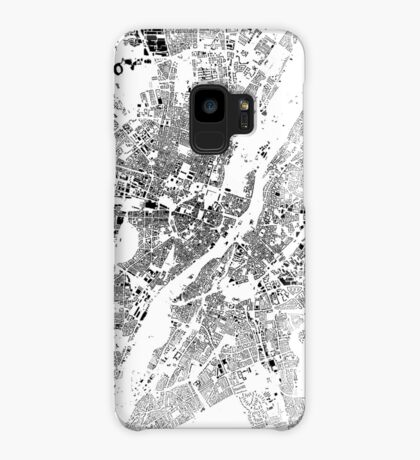 Munich Map Schwarzplan Only Buildings Urban Plan Case/Skin for Samsung Galaxy