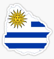 Flag Map of Uruguay  Sticker