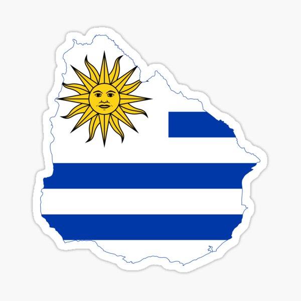 Mapa de la bandera de Uruguay Pegatina