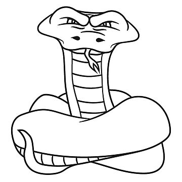 wicked cool dangerous cobra snake comic cartoon design by Motiv-Lady