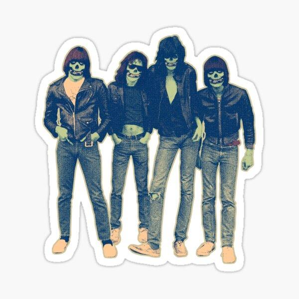Ramones vinyl decal sticker silhouettes punk rock and roll Joey Dee Dee Johnny