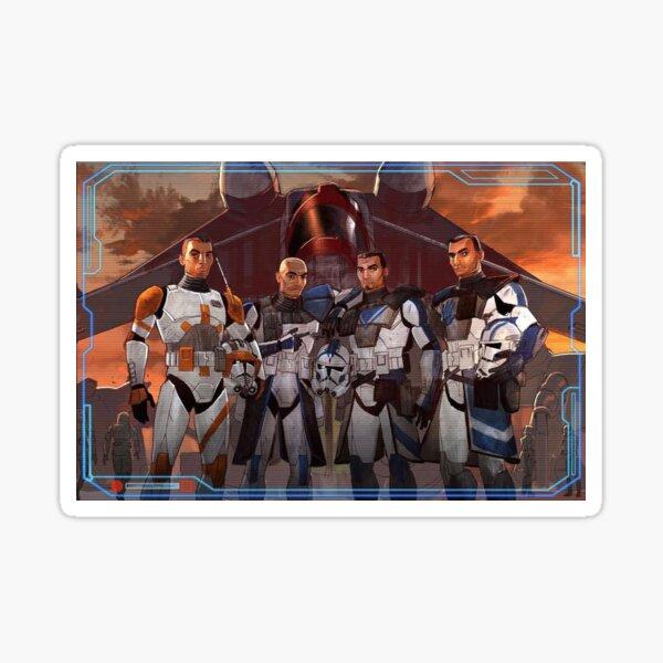 Cody, Rex, Fives, Echo Clone Wars  Sticker