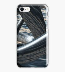 Supernatural flows of water above the sea iPhone Case/Skin