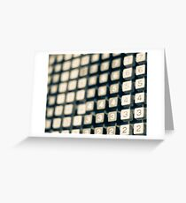 adding machine keypad Greeting Card