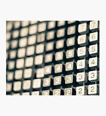 adding machine keypad Photographic Print