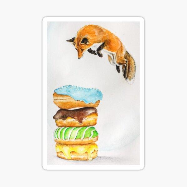 Donut Foxhole Sticker