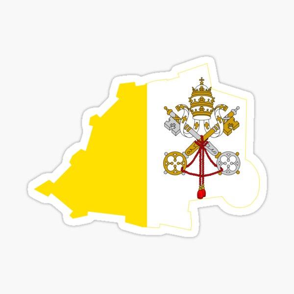 Flag Map of Vatican City Sticker