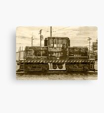 Army Train Vintage Canvas Print