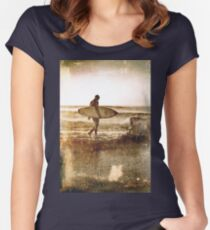 Vintage Surfer Women's Fitted Scoop T-Shirt