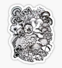 A Medley of Mushrooms Sticker