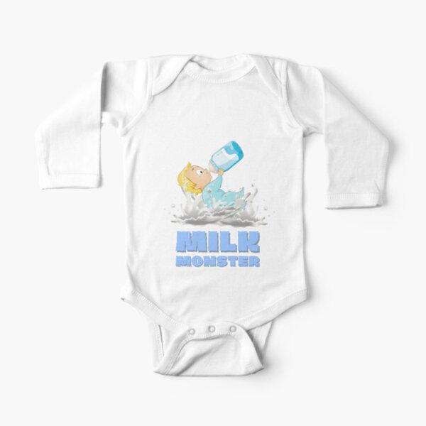 Milk Monster - Blue Long Sleeve Baby One-Piece