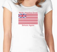 Make America Great Britain Again  Women's Fitted Scoop T-Shirt