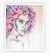 Flower Hair Poignate Stare Sticker