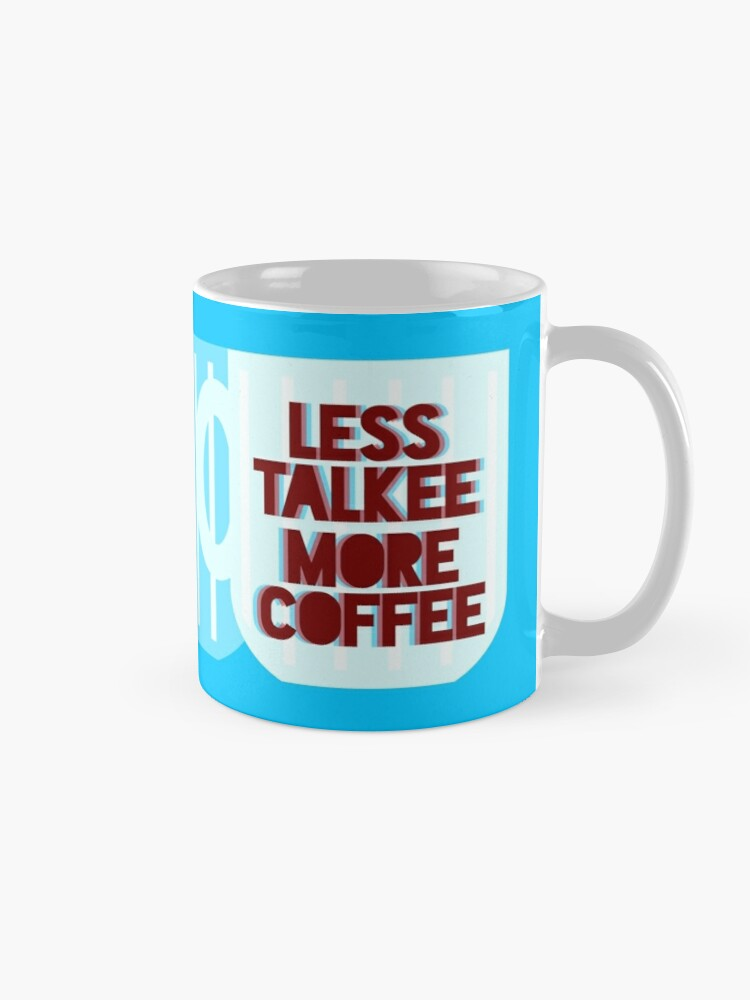 Alternate view of Less Talkee, More Coffee Mug