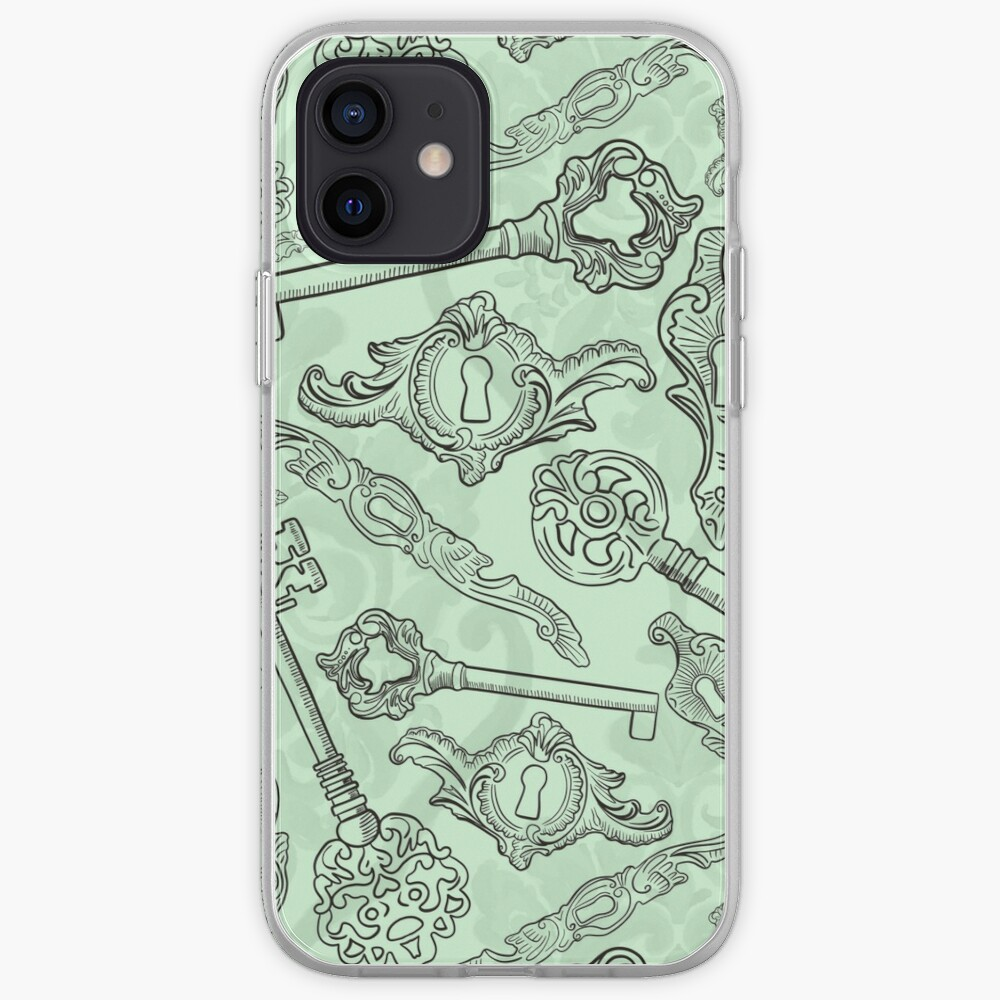 Rococo locks and keys pattern design iPhone Case & Cover