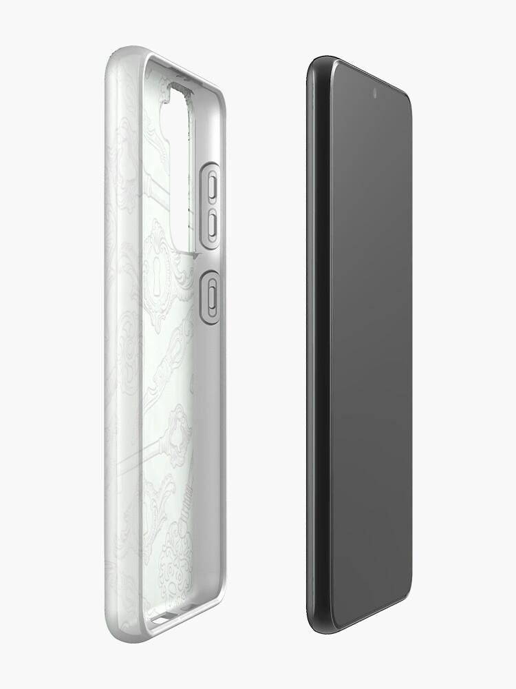Alternate view of Rococo locks and keys pattern design Samsung Galaxy Phone Case