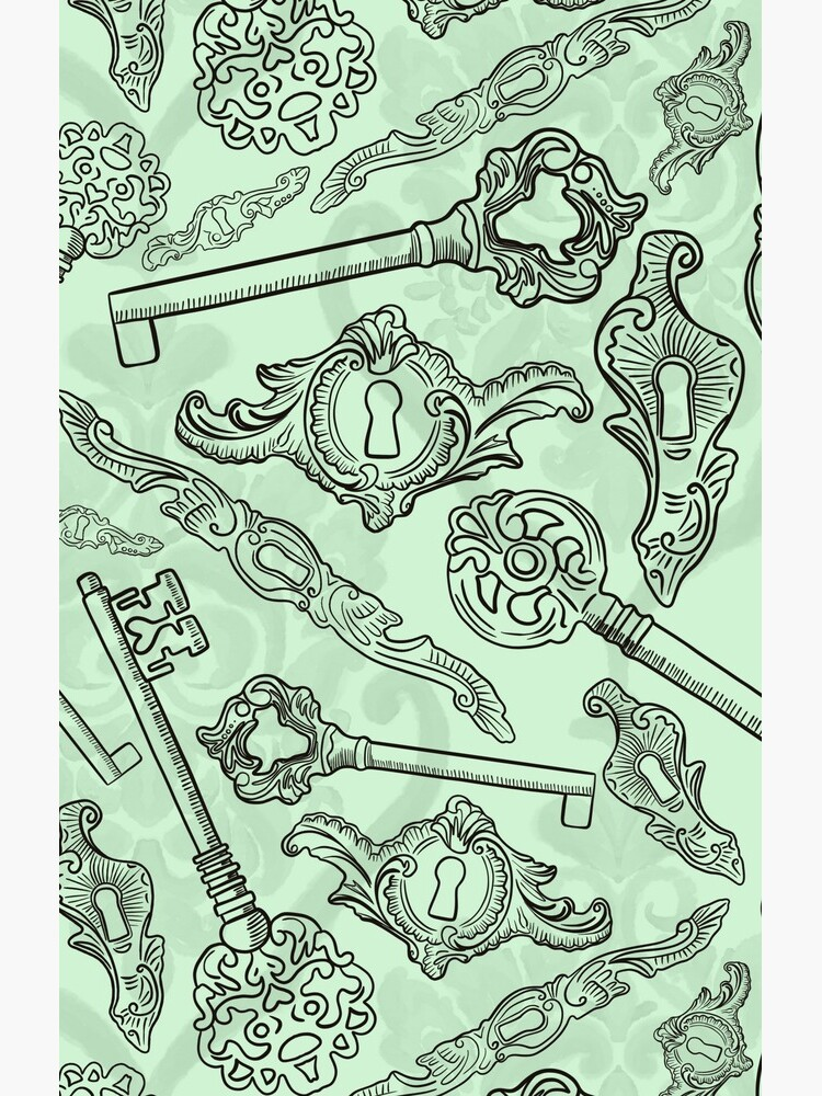 Rococo locks and keys pattern design by nobelbunt