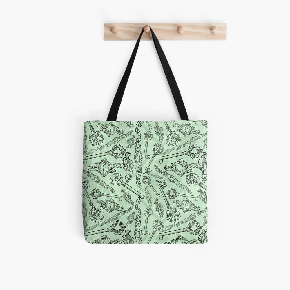 Rococo locks and keys pattern design Tote Bag
