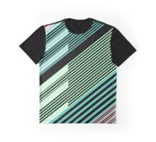 Abstract Striped Island Graphic T-Shirt