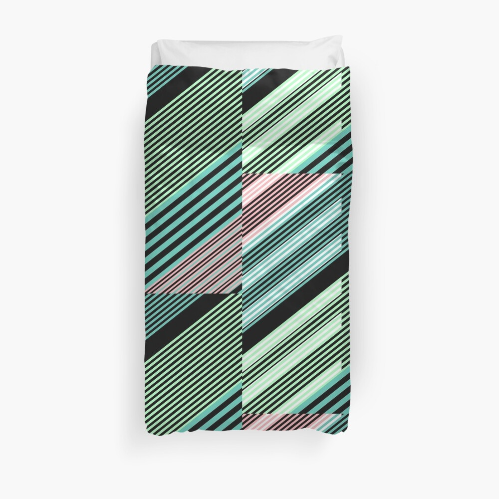 Abstract Striped Island Duvet Cover