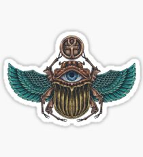 Colorful Scarab beetle with the eye of Horus Sticker