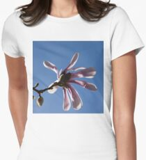 Pink Spring - Blue Sky and Magnolia Blossoms T-Shirt