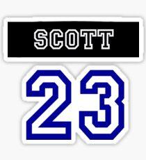 Nathan Scott Jersey Number Sticker