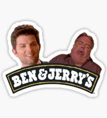 ben and jerry Sticker