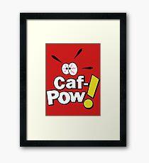 Caf-POW! Framed Print