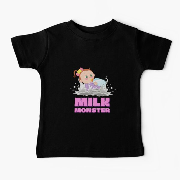 Milk Monster - Pink Baby T-Shirt