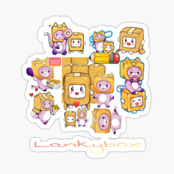 Lankybox Sticker