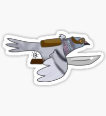 Carrier Pigeon with a Knife Sticker