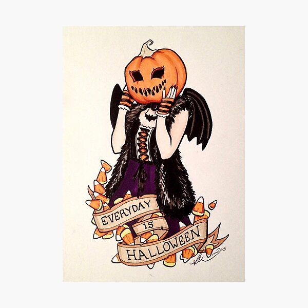 Every Day is Halloween Photographic Print