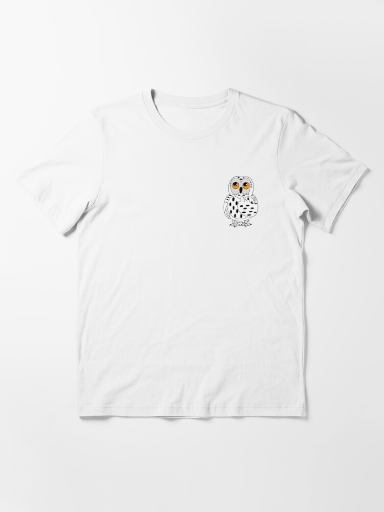 Alternate view of Wise Snowy Owl Giving the Finger Design Essential T-Shirt